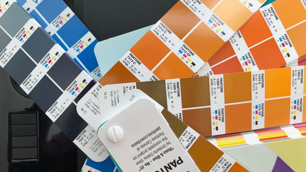 PANTONE color swatch books