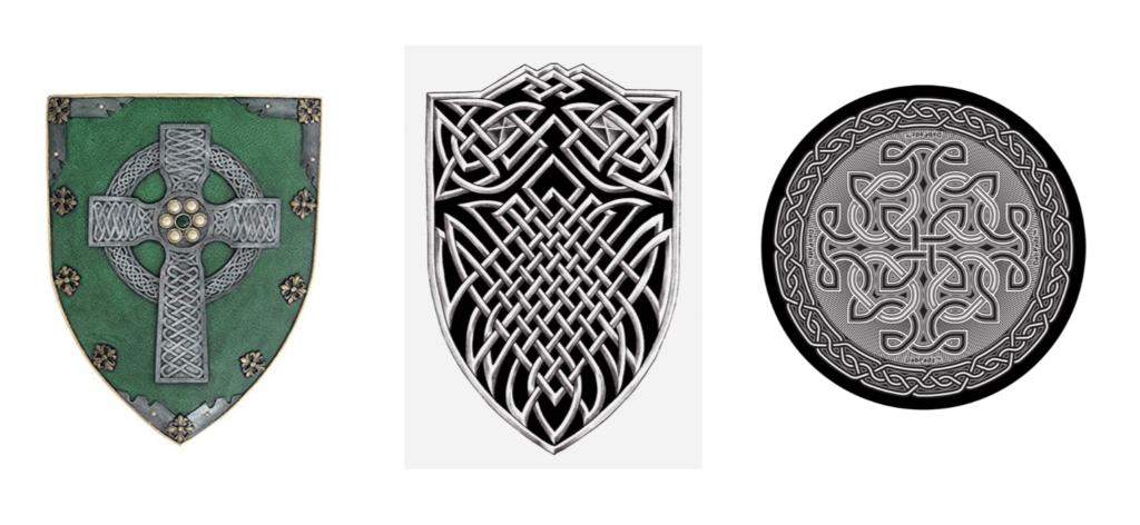 Old Celtic shields