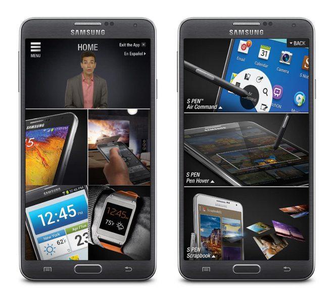 Samsung Retail Demo App